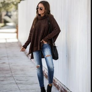 HALLY Cowl Neck Sweater